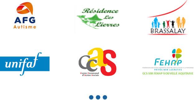 Logos des clients de Médiconseil formation